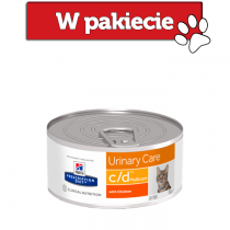 Hill's Prescription Diet Feline c/d Urinary Care Multicare z kurczakiem 156g
