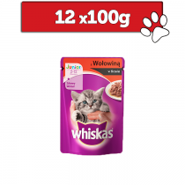Whiskas Junior w sosie 100g x 12