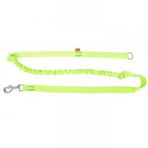 Dingo Smycz taśma do biegania z amortyzatorem uchwyt zielona 170cm