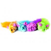 Dingo Myszki dla kota kolorowe 2szt
