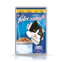 Felix Fantastic Junior w galaretce kurczak 100g x 12