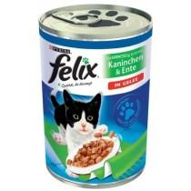 Felix w galaretce puszka królik i kaczka 400g x 12
