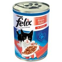 Felix w galaretce puszka kurczak i wołowina 400g x 12