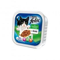 Felix w sosie tacka królik i kaczka 100g x 12