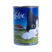 Felix w sosie puszka królik i kaczka 400g x 12