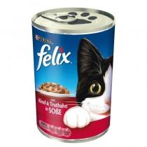 Felix w sosie puszka wołowina i indyk 400g x 12