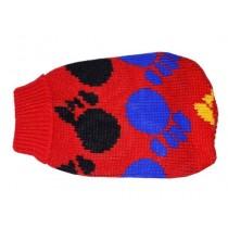 """Doggy Fashion Golf 30cm/10"""" czerwony ze wzorem"""