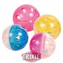 Trixie Piłki przezroczyste z grzechotką z plastiku 5cm 4szt