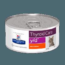 Hill's Prescription Diet Feline y/d Thyroid Care z kurczakiem 156g