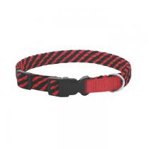 Chaba Obroża linka regulowana czarno czerwona 16mm/40cm
