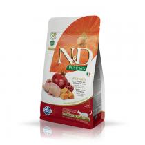 Farmina N&D GF Adult Cat Pumpkin Neutered Quail & Pomegranate 300g