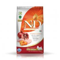 Farmina N&D GF Adult Mini Dog Pumpkin Chicken & Pomegranate 800g