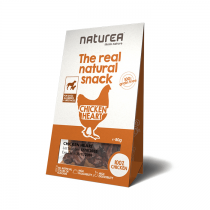 Naturea Real Natural Snack bezzbożowy z sercami kurzymi 80g