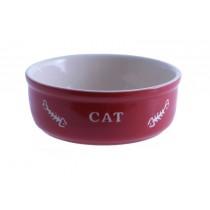 Nobby Miska ceramiczna dla kota czerwona z ością
