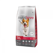 Nutrilove Premium Adult Small S świeży kurczak