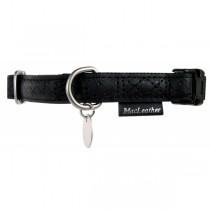 Zolux Obroża regulowana Mac Leather Czarna