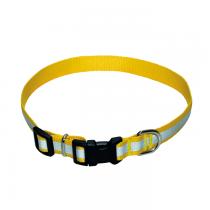 Chaba Obroża regulowana odblaskowa żółta 25mm/60cm