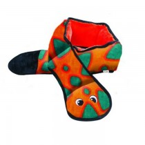 Outward Hound Invincibles Snake czerwono-pomarańczowy 3 piszczałki