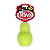 Pet Nova Gryzak z dzwonkiem Snowman o aromacie wołowiny żółty 9,5cm