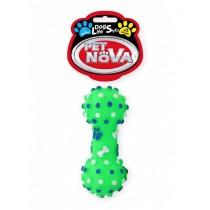 Pet Nova Hantel dentystyczny DentBone z dźwiękiem zielony [rozmiar S] 10,5cm