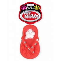 Pet Nova Klapek gumowy Shoe z dźwiękiem 15cm