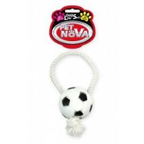 Pet Nova Piłka futbolowa Rope-Soccer Ball ze sznurkiem 28cm