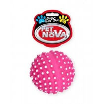Pet Nova Piłka jeżowa DentBall z dźwiękiem różowa [rozmiar XS] 6,5cm
