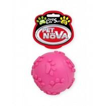 Pet Nova Piłka miętowa SoundBall z dźwiękiem różowa 6cm