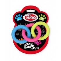 Pet Nova Ringo miętowe Rings z gumy mix kolorów 18,5cm