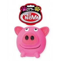 Pet Nova Świnka gumowa Pig Ball z dźwiękiem 10cm