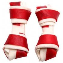 AdBi Kość wiązana biało czerwona wołowina 10cm 10szt.