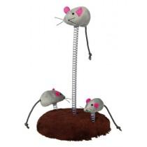 Trixie Myszy na sprężynie 30cm 3szt
