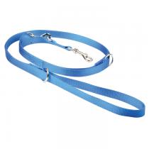 Chaba Smycz taśma regulowana błękitna