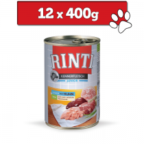 Rinti Kennerfleisch Pur Junior 400g x 12
