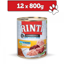 Rinti Kennerfleisch Pur Junior 800g x 12