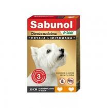 Sabunol Obroża pomarańczowa w serca przeciw pchłom i kleszczom dla psa 50cm