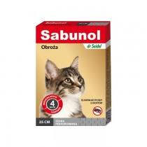 Sabunol Obroża szara przeciw pchłom dla kota 35cm