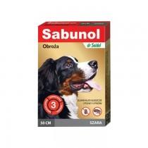 Sabunol Obroża szara przeciw pchłom i kleszczom dla psa