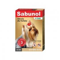 Sabunol Obroża złota przeciw pchłom i kleszczom dla psa