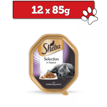 Sheba Selection w sosie tacka 12 x 85g