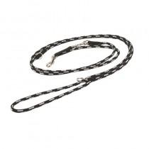 Chaba Smycz Linka regulowana czarno beżowa