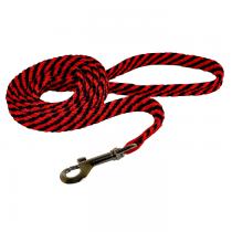 Chaba Smycz linka płaska czarno czerwona 16mm/130cm