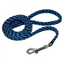 Chaba Smycz linka płaska czarno niebieska 16mm/130cm