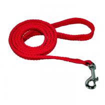 Chaba Smycz linka płaska czerwona 16mm/130cm
