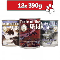 Taste of the wild mix 3 smaków 390g x 12