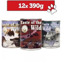 Taste of the wild mix 3 smaków 390g x 12