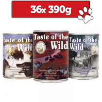 Taste of the wild mix 3 smaków 390g x 36