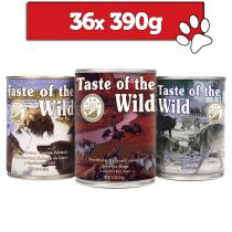 Taste of the wild mix 3 smaków 390g x 36