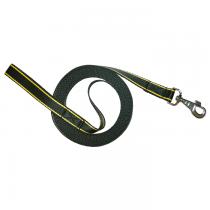 Chaba Smycz Treningowa taśma czarna z żółtym 25mm/5m