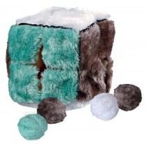 Trixie Kostka pluszowa z piłkami 14 x 14 x 14cm